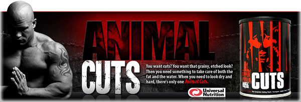 Animal Cuts 42 packs Universal Nutrition banner