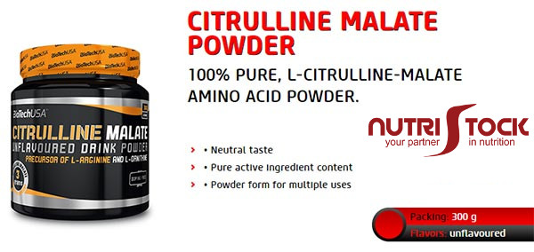 Citrulline Malate Powder 300g Biotech USA banner