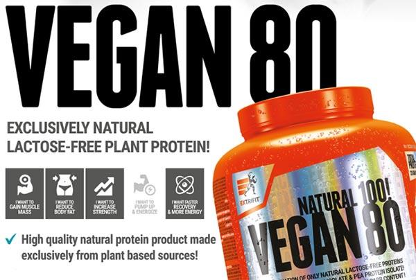 Vegan 80 Protein Extrifit proteine vegetali riso e pisello