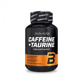 Caffeina + Taurina 60 cps Biotech USA